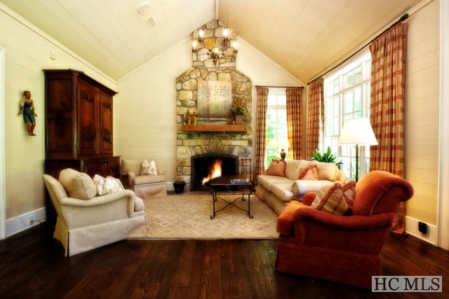 highlands estate home for sale - stone fireplace