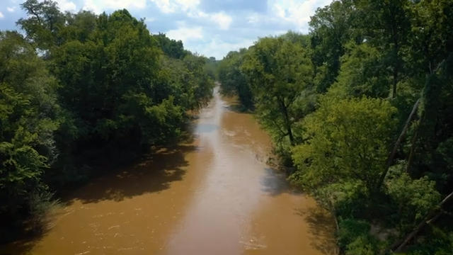 View of river on Pharr land for sale