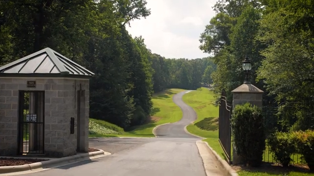 Gated entrance to land for sale near Charlotte NC